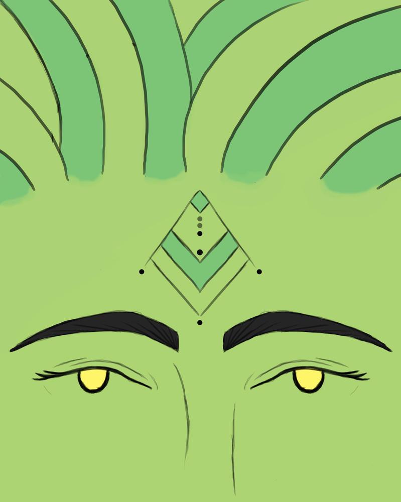 Green Skin Daily sketch #882 by GothicVampireFreak