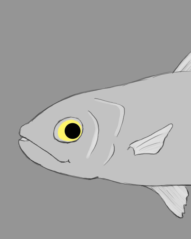 Fish Daily sketch #883 by GothicVampireFreak