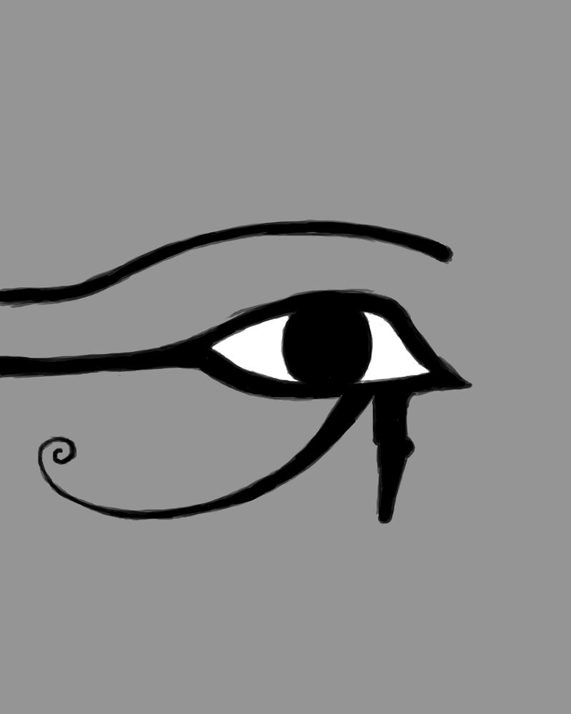 Eye of Horus Daily sketch #887 by GothicVampireFreak
