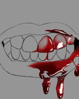 Bloody Mouth Daily sketch #1098 by GothicVampireFreak