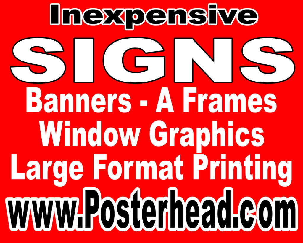 Posterhead Signs by Posterhead