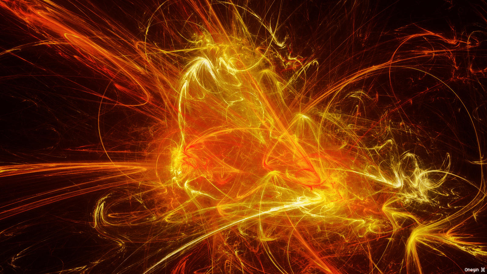 Fractal Flame Wallpaper by OneginIII
