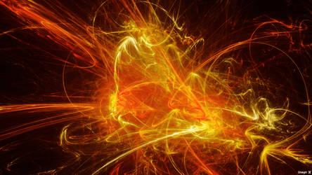 Fractal Flame Wallpaper by OneginIII