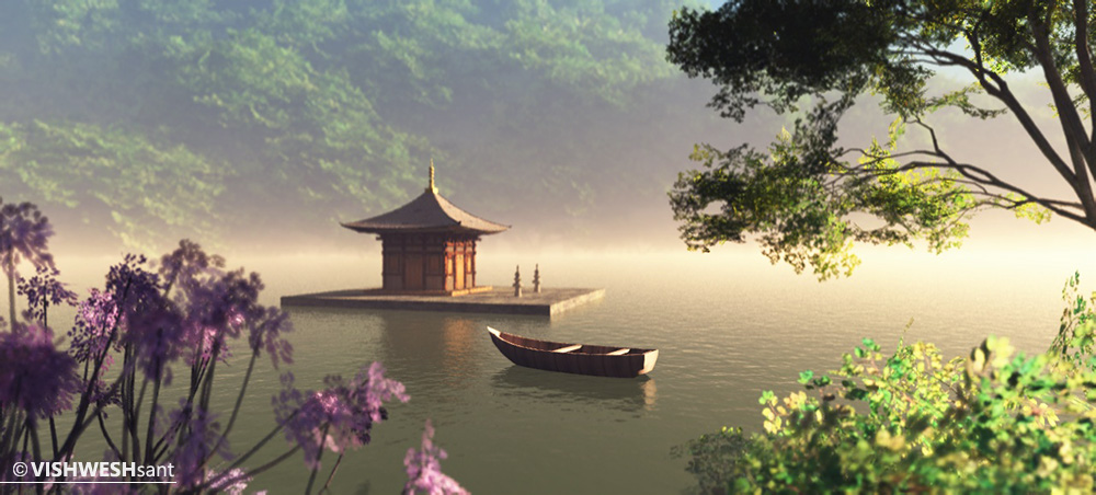 Floating Temple XVI by Vishw