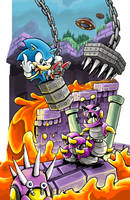 Sonic in Marble Zone Again by gsilverfish