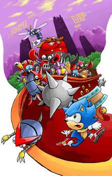 Sonic in the Spring Yard Zone