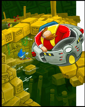 Eggman in the Labyrinth Zone?