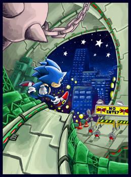 Sonic in Star Light Zone again