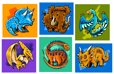 Dinos and Friends by gsilverfish