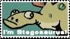 I'm Stegosaurus Stamp by gsilverfish