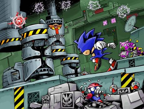 Sonic in the Scrap Brain Zone