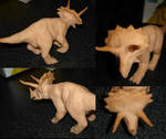 Sculpey Triceratops