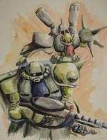 Zaku Watercolors