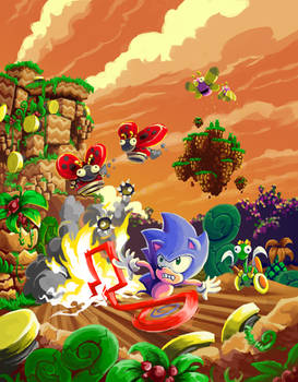 Sonic CD Contest Collision Chaos Zone Past