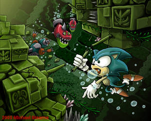 Sonic Fix: Labyrinth Zone by gsilverfish