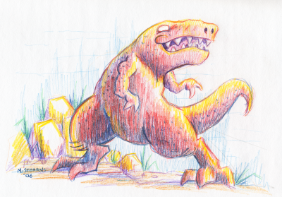 T-Rex Pencil by gsilverfish