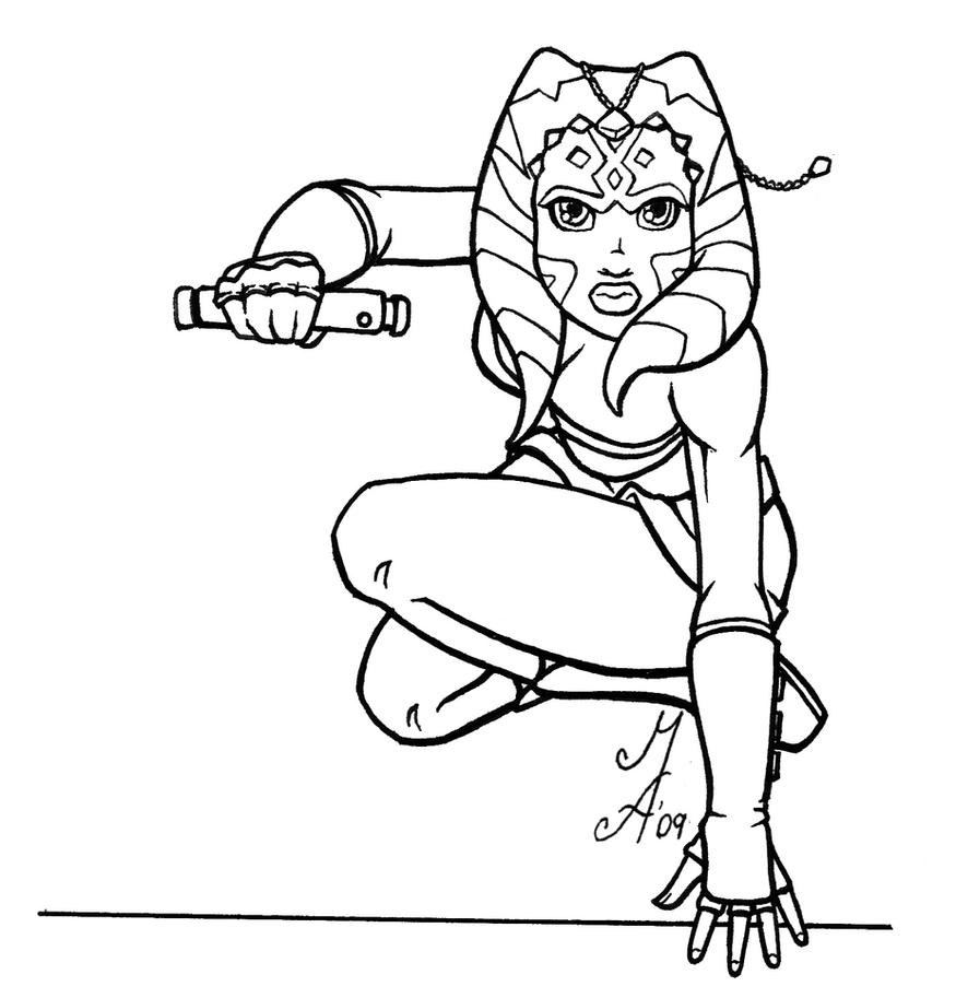 Star Wars Coloring Pages Printable 01 Ahsoka Tano Coloring Pages 5