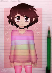 .pastel colors.