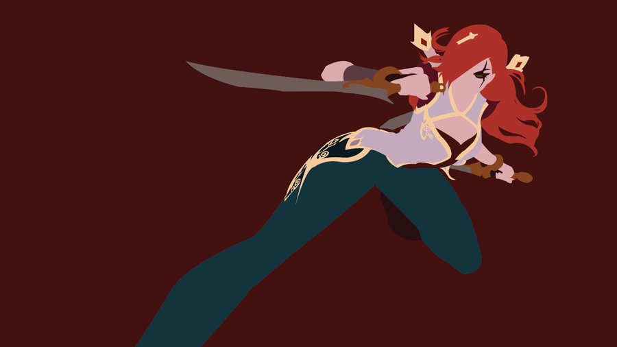 Kalista League Of Legends Minimalist Wallpaper By: Warring Kingdoms Katarina Minimalist Art By Rezelle On