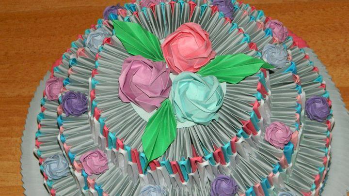 Origami Cake By Annnemarie95 On Deviantart