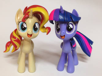 Twilight Sparkle and Sunset Shimmer by mlpony46
