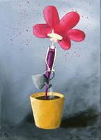 Une fleur pousse by lestoilesdaz