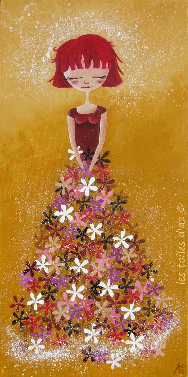 The flower dress by lestoilesdaz