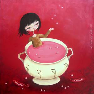 La soupe aux pois roses