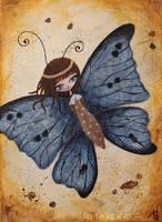 Le papillon bleu by lestoilesdaz