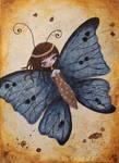 Le papillon bleu