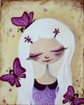 Les papillons violets