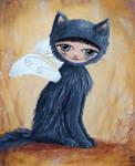 Le chat bleute
