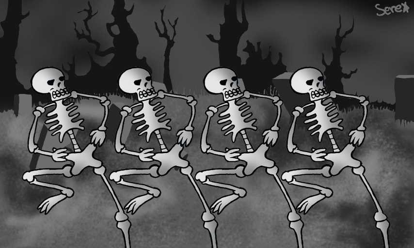 Spooky Scary Skeletons By Flamiya On Deviantart