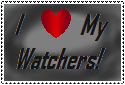 I love my watchers Stamp by sarah111101