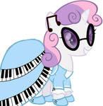 Sweetie Belle as a power pony- Silver Key