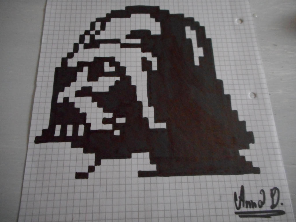 Pixel Art Darth Vader By Melonekcz By Melonekcz On