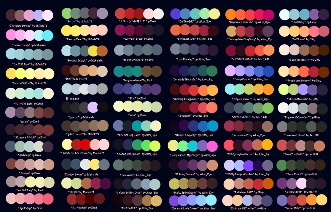 Character Design Color Scheme : Colour palettes no by striped tie on deviantart