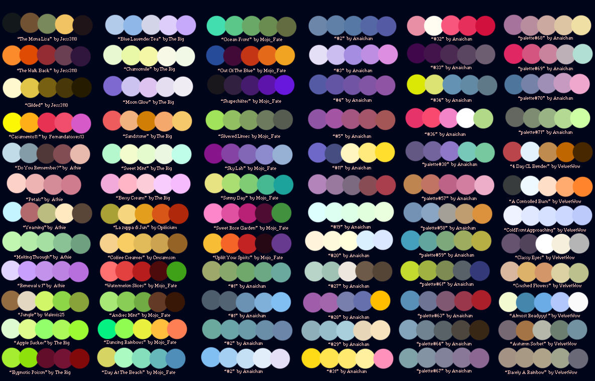 Colour Palettes no.2 by Striped-Tie