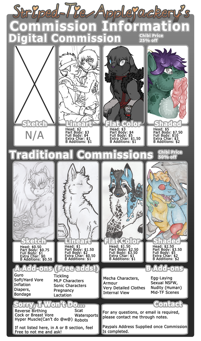 (Open) Updated Commission Info by Striped-Tie