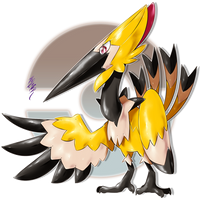 Tipeker, the Graphite Fakemon by Aalacer
