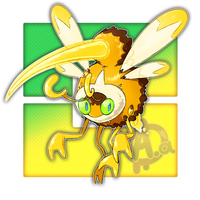 #016 Wasprizan, the Assault Wasp Fakemon by Aalacer