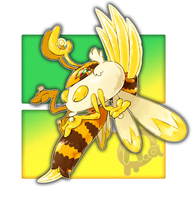 #017 Hivreigna, the Throne Fakemon by Aalacer