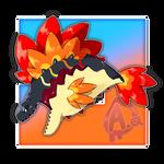 #035 Pyranhell, the Heatscale Fakemon