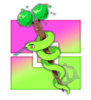#052 Gronsnake, the Medicine Fakemon by Aalacer