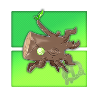 #057 Malstump, the Tree Bark Fakemon by Aalacer