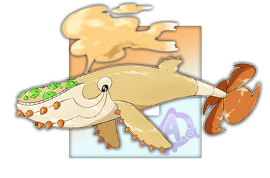#077 Sandorobas, the Sand Propeller Fakemon by Aalacer