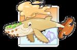 #077 Sandorobas, the Sand Propeller Fakemon