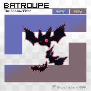 Batroupe, the Shadow Fakemon