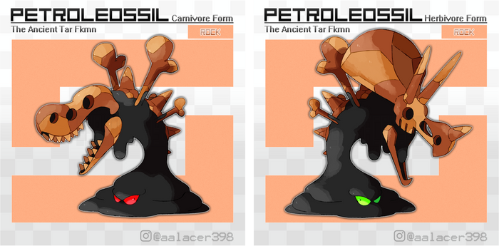 Petroleossil, the Ancient Tar Fakemon
