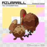 Reg. variant: Azumarill, the Terrarabbit Fakemon